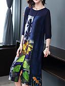 זול שמלות מודפסות-מידי דפוס, פרחוני - שמלה נדן בסיסי בגדי ריקוד נשים