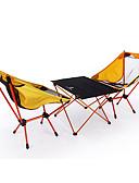 povoljno Luksuzni satovi-BEAR SYMBOL Kampiranje stol s stolicama Prijenosno Anti-Slip Ultra Light (UL) Prozračnosti Oxford tkanje 7075 Aluminij 2 Stolice 1 Tablica za Ribolov Kampiranje Pasti Proljeće žuta / Može se sklopiti