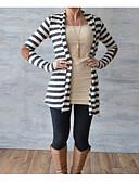 preiswerte Damenmäntel und Trenchcoats-Damen - Gestreift Mantel Baumwolle