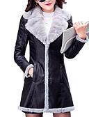 abordables Abrigos de pieles y de piel sintético de mujer-Mujer Chic de Calle Abrigo Contemporáneo