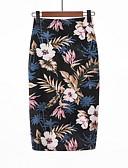 tanie Damska spódnica-Damskie Podstawowy Bodycon Spódnice Kwiaty
