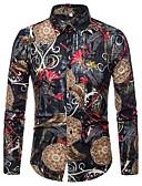 povoljno Maxi haljine-Majica Muškarci - Vintage / Osnovni Dnevno Lan Geometrijski oblici Crn / Dugih rukava