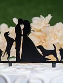 povoljno Odijela-Figure za torte Klasični Tema / Vjenčanje Izrezati Acryic / poliester Vjenčanje / godišnjica s Akril 1 pcs PVC vrećica