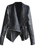 זול Jackets-אחיד סגנון רחוב ג'קט - בגדי ריקוד נשים