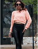 tanie T-shirt-Damskie Podstawowy Bluza dresowa - Solidne kolory