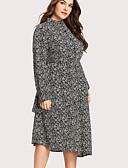 ieftine Dresses For Date-Pentru femei De Bază Swing Rochie Floral Stand Midi