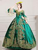 hesapli Kadın Başlıkları-Marie Antoinette Rococo 18. yüzyıl Kostüm Kadın's Elbiseler Parti Kostümleri Maskeli Balo Balo Yeşil Eski Tip Cosplay Dantel Saten Şair Yere Kadar Balo Abiyesi Büyük Bedenler özelleştirilmiş