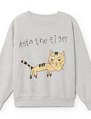 billige Hættetrøjer og sweatshirts til drenge-Børn / Baby Drenge Basale Trykt mønster Langærmet Bomuld Hættetrøje og sweatshirt Lyserød