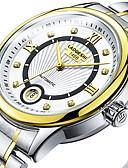 hesapli Mekanik Saatler-Erkek Çiftlerin Elbise Saat mekanik izle Japonca Otomatik kendi hareketli Paslanmaz Çelik Gümüş 30 m Su Resisdansı Gece Parlayan Büyük Kadran Analog Klasik Günlük Moda - Altın Gül Altın Altın / Beyaz