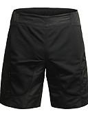 זול בגדי ים לגברים-Jaggad בגדי ריקוד נשים מכנס קצר מרופד לרכיבה אופניים מכנסיים קצרים / מכנסיים קצרים רחבים / מכנסי רכיבה באגי נושם, 3D לוח אחיד, משובץ פוליאסטר, אלסטיין שחור בגדי רכיבת אופניים