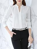ieftine Salopete Damă-Pentru femei Bluză / Cămașă Afacere / De Bază - Mată Plisată