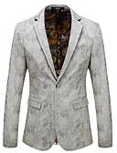 tanie Męskie koszule-Marynarka Męskie Moda miejska Geometric Shape Poliester / Długi rękaw