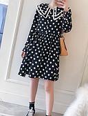 povoljno Ženske haljine-Žene A kroj Haljina Na točkice Iznad koljena