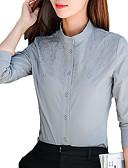 abordables Camisas para Mujer-Mujer Básico Bordado Camisa Un Color