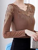 abordables Monos y Rómpers para Mujer-blusa de mujer - cuello redondo de color sólido