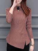 cheap Women's Blouses-women's going out slim t-shirt - striped crew neck