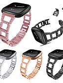 hesapli Spor Saat-Watch Band için Fitbit Versa Fitbit Modern Toka / Takı Tasarımları Metal Bilek Askısı