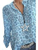 cheap Women's Blouses-Women's Slim Shirt - Graphic V Neck