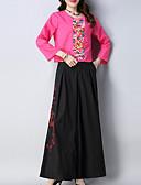 ieftine Costum Damă Două Bucăți-Pentru femei Set - Floral, Pantaloni