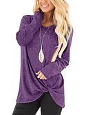 cheap Women's Down & Parkas-Women's Going out / Weekend Basic / Street chic Solid Colored Long Sleeve Loose Regular Cashmere, Round Neck Fall / Winter Cashmere Khaki / Light gray / Royal Blue L / XL / XXL / Sexy