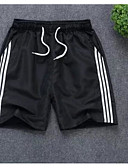 cheap Men's Pants & Shorts-Men's Plus Size Shorts Pants - Color Block White
