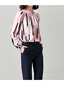 cheap Women's Blouses-women's loose blouse - striped v neck