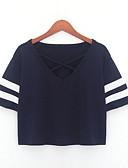povoljno Majica s rukavima-Majica s rukavima Žene - Osnovni Dnevno Jednobojni V izrez
