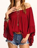 tanie Bluzka-T-shirt Damskie Wyjściowe Z odsłoniętymi ramionami Szczupła - Solidne kolory