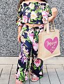Χαμηλού Κόστους Σετ ρούχων για κορίτσια-Παιδιά Νήπιο Κοριτσίστικα Ενεργό Μπόχο Αργίες Εξόδου Τροπικό φύλλο Φλοράλ Στάμπα Μισό μανίκι Κοντό Πολυεστέρας Spandex Σετ Ρούχων Ανθισμένο Ροζ