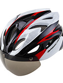 cheap Men's Pants & Shorts-Adults' Bike Helmet 16 Vents Integrally-molded Lightweight ESP+PC PC Sports Cycling / Bike Bike / Bicycle Motobike / Motorcycle - Pink Red / White Blue / White Men's Women's Unisex