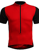 tanie Kwarcowy-Męskie Damskie Krótki rękaw Koszulka rowerowa - Czerwony Niebieski Czarny / Pomarańczowy Jednokolorowe Puszysta Rower Dżersej, Oddychający Nylon Elastyczny