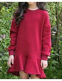 povoljno Džemperi i kardigani za djevojčice-Djeca Djevojčice Osnovni Jednobojni Dugih rukava Pamuk Haljina Braon