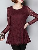 preiswerte Kleider in Übergröße-Damen Solide T-shirt