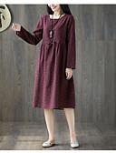 tanie W stylu vintage-Damskie Vintage Spodnie Wiązanie / Patchwork / Nadruk Granatowy