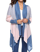 baratos Suéteres de Mulher-Mulheres Básico Capa / Capes - Estampa Colorida