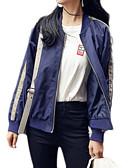abordables Blazers y Chaquetas de Mujer-Mujer Chaqueta Escote Chino - Un Color