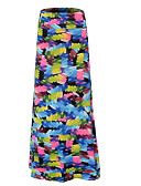 cheap Women's Skirts-women's going out maxi bodycon skirts - color block