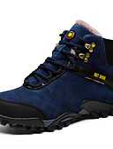cheap Men's Blazers & Suits-Men's Snow Boots Cowhide Winter Sporty / Casual Boots Keep Warm Booties / Ankle Boots Black / Blue / Wine