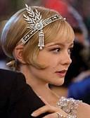 cheap Women's Headpieces-Women's Vintage / 1920s / The Great Gatsby Rhinestone / Fabric / Alloy Cubic Zirconia Headband Flower / All Seasons