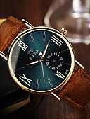 abordables Relojes de Hombre-YAZOLE Hombre Reloj de Pulsera Cuarzo Reloj Casual Piel Banda Analógico Casual Marrón - Negro Azul Verde Oscuro Un año Vida de la Batería / Acero Inoxidable / SSUO 377