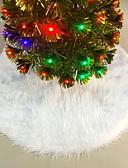 preiswerte Farbiger Chiffonschal-Urlaubsdekoration Weihnachtsdeko Weihnachtsschmuck Dekorativ Weiß 1pc