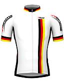 billige iPhone-etuier-Kooplus Herre Kortærmet Cykeltrøje - Hvid Nationalflag Champion Cykel Trøje Toppe, Åndbart Vandtæt Lynlås 100% Polyester