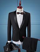 Χαμηλού Κόστους Φορέματα για παρανυφάκια-Μονόχρωμο Κατά παραγγελία εφαρμογή Πολυεστέρας Κοστούμι - Στρογγυλεμένο πέτο Μονόπετο Ενός Κουμπιού