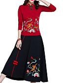 זול 2017ביקיני ובגדי ים-אחיד / גיאומטרי - חצאיות נדנדה סגנון סיני בגדי ריקוד נשים
