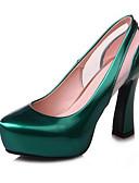 رخيصةأون فساتين قياس كبير-نسائي أحذية الراحة جلد محفوظ الربيع كعوب كعب ستيلتو أحمر / أخضر / أزرق