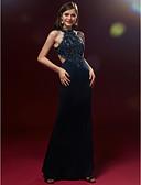 זול שמלות נשף-גזרת A / נסיכה עם תכשיטים עד הריצפה תחרה / סאטן גב פתוח מסיבת קוקטייל / נשף רקודים / ערב רישמי שמלה עם חרוזים / אפליקציות / קפלים על ידי TS Couture®