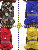 tanie Męskie swetry i swetry rozpinane-Psy / Koty / Zwierzęta domowe Płaszcz przeciwdeszczowy / Dekoracje świąteczne Ubrania dla psów Solidne kolory / Moro Czerwony / Niebieski / Kolor kamuflujący Włókna akrylowe Kostium Dla zwierząt
