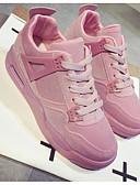 baratos Blazers Femininos-Mulheres Sapatos Confortáveis Couro Ecológico Primavera Tênis Corrida Sem Salto Preto / Cinzento / Rosa claro