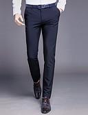 tanie Męskie spodnie i szorty-Męskie Podstawowy Garnitury Spodnie - Solidne kolory Czarny
