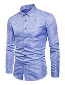 tanie Męskie koszule-Koszula Męskie Aktywny / Podstawowy Geometric Shape